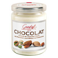 White Chocolate Cream with pistachios and bitter almond flavouring, 235g