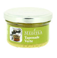 Meditea Green Olives Tapenade with Basil, glass 90g