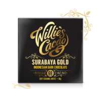 Čokoláda Willie's Indonesian Gold, Surabaya Gold hořká 69%, 50g