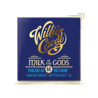 Willie's Cacao Čokoláda Willie's mléčná MILK OF THE GODS, Rio Caribe 44%, 50g