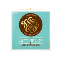 Willie's Cacao dark chocolate Colombian CAFÉ NEGRO, cacao 70%, 50g