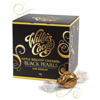 Pralinky Willie's APPLE BRANDY CARAMELS, Rio Caribe 72% 150g