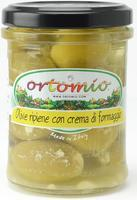 Ortomio Olives Stuffed with  Parmigiano Cream, 212ml