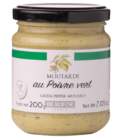 Green Peppercorn Mustard - Beaufor, 200g