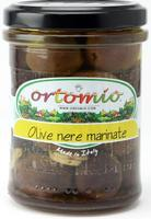 Orotmio Black Marinated Olives Whole in Oil, 212 ml