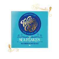 Willie's Cacao Čokoláda Willie's mléčná se solí SEA FLAKES, Rio Caribe 44%, 50g