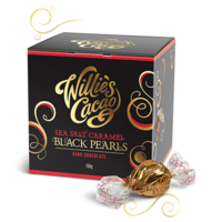 Willie's Cacao Black Pearls with salt and caramel, cacao 71%, 150g