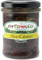 Ortomio Kalamata olives whole in oil, 212 ml