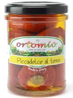 "Ortomio ""Piccadolce"" cherry peppers stuffed with tuna cream, 212 ml"