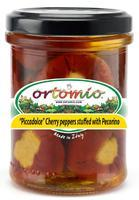 "Ortomio ""Piccadolce"" cherry peppers stuffed with Pecorino cream, 212 ml"
