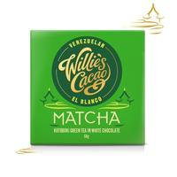 Willie's Cacao Čokoláda Willie's bílá MATCHA, Kotobuki green tea, 50g