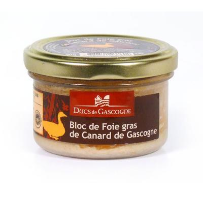 Block of Duck Foie Gras from the region of Gascogne, 90g