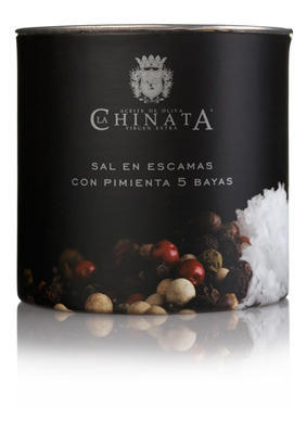 La Chinata Flaked Sea Salt -  5 Peppers Mix, 165g