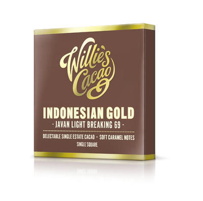 Willie's Cacao chocolate Indonesian Gold, Javan light breaking - cacao 69%, 50g