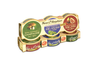 Gourmet Trio of Terrines (coarse pate), 234 g (3x78g)