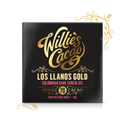 Čokoláda Willie's Colombian Dark Chocolate, Los Llanos 70%, 50g
