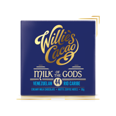 Čokoláda Willie's mléčná MILK OF THE GODS, Rio Caribe 44%, 50g