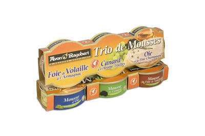 Trio of mousses, 234g (3x78g)