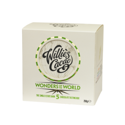 Willie's Cacao gift box 5 WONDERS – 5 dark chocolate bars, 5x50g