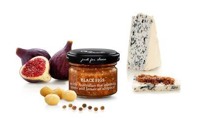 MINI Sweet Sauce with Black Figs with Australian Macadamia Nuts and Jamaican pepper, 70g