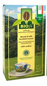 Whole Beans Coffee -  BIOFE 100% Arabica, 250g