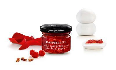 MINI Sweet Gellified Sauce of Raspberries with Rose Petals and Szechuan Pepper, 70g