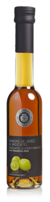 Sherry Vinegar (Vinagre de Jerez) with s vinem MOSCATEL, glass bottle 250 ml