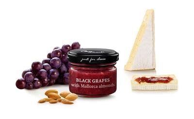 MINI Sweet Sauce of Black Grapes with  Majorcan Sliced Almonds, 70g - 1
