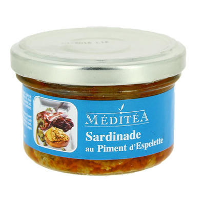 Meditea Sardines Spread with Espelette and Dried Tomatoes, 90g