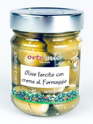 "Ortomio Green Olives Stuffed with ""Pecorino"" Cheese, 212ml"