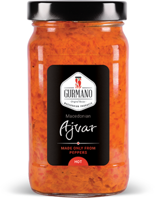 Gurmano Ajvar HOT pálivý, 490g