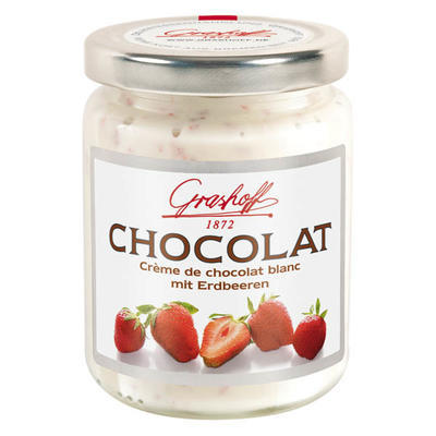 White Chocolate Cream with Strawberries, 250g
