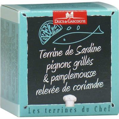 Terrine of Sardines with Roasted Pine Nuts, Grapefruit and Coriander, 65 g