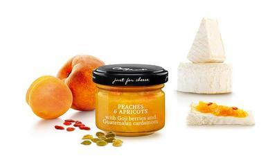 MINI Sweet Sauce of Peaches and Apricots with Goji Berries and Guatamalan Cardamom, 70g - 1