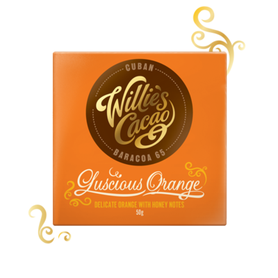 Willie's Cacao chocolate - Cuban with orange, cacao 65%, 50g