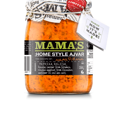 Ajvar Home Made Mild Mamas, 550g