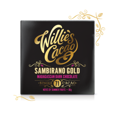 Willie's Cacao Čokoláda Willie's Madagascan Gold hořká 71%, 50g - 1