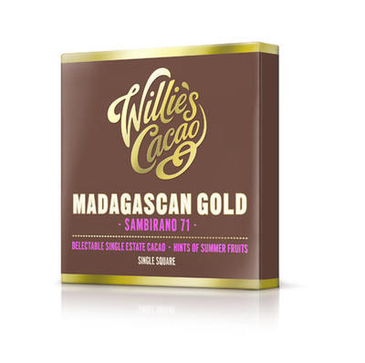 Willie's Cacao chocolate Madagascan Gold, cacao 71%, 50g