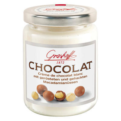 White Chocolate Cream with roasted macadamia nuts, 235g