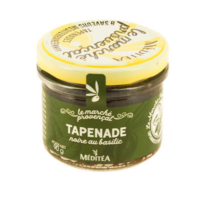 Meditea Black Olives  Tapenade with Basil, glass 90g