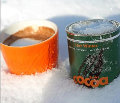BECKSCOCOA Drinking Chocolate HOT WINTER with ten types of winter spices, 250g can, Fairtrade - 2