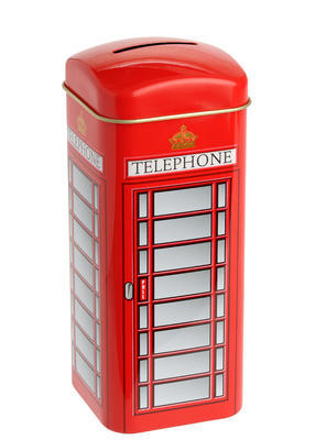 English Tea in a Red Gift Telephone Box - 2