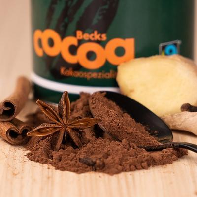 BECKSCOCOA Drinking Chocolate HOT WINTER with ten types of winter spices, 250g can, Fairtrade - 3